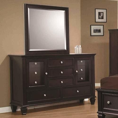 Sandy Beach Cl Ic 11 Drawer Dresser And Vertical Dresser Mirror