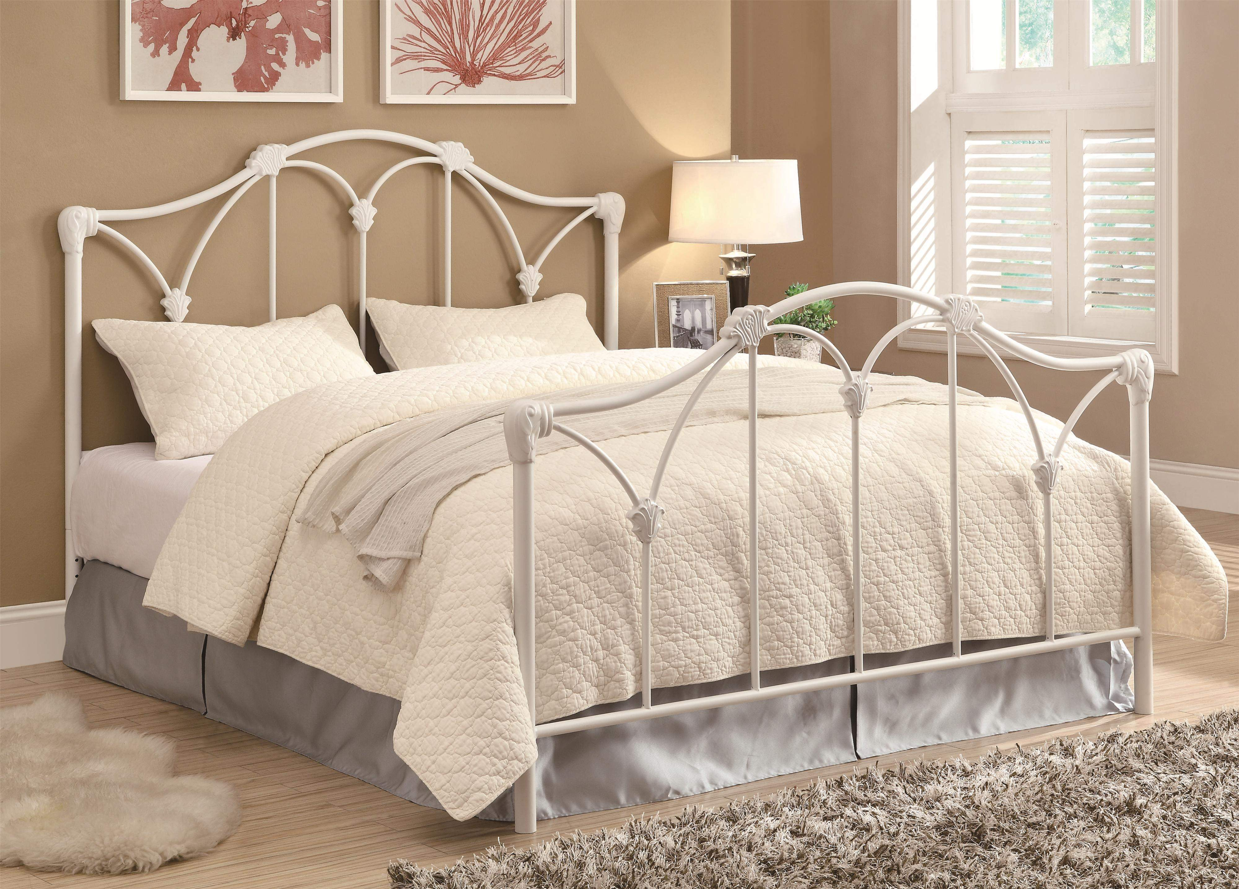 Picture of: Iron Beds And Headboards Traditional White Iron Queen Bed Quality Furniture At Affordable Prices In Philadelphia Main Line Pa