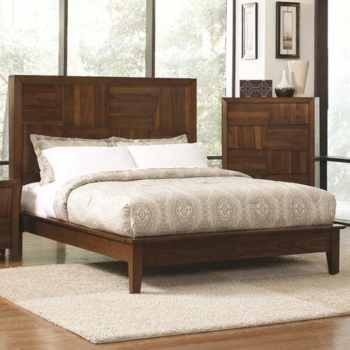 Joyce King Platform Bed W Tall Headboard Quality Furniture At