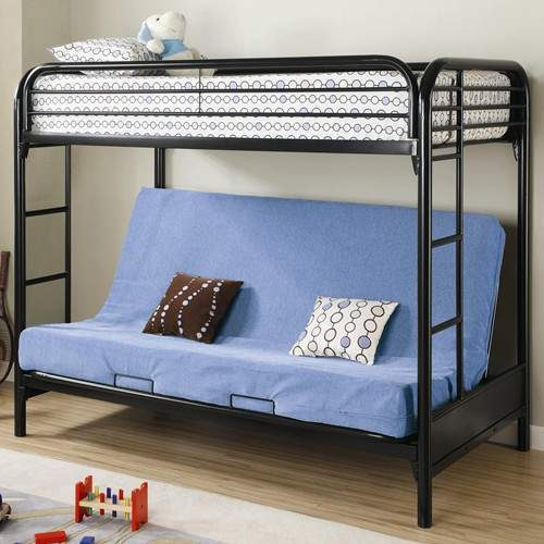 Twin Over Full Futon Metal Bunk Bed