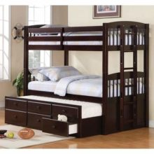 logan twin over twin bunk bed with trundle
