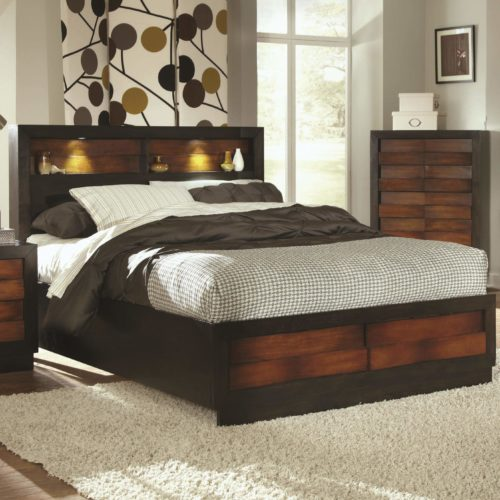 Rolwing Queen Bed With Headboard Storage Quality Furniture At