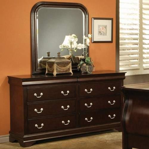 Louis Philippe Style 6 Drawer Dresser