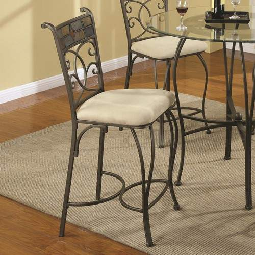 120830 Counter Height Stool With Upholstered Fabric