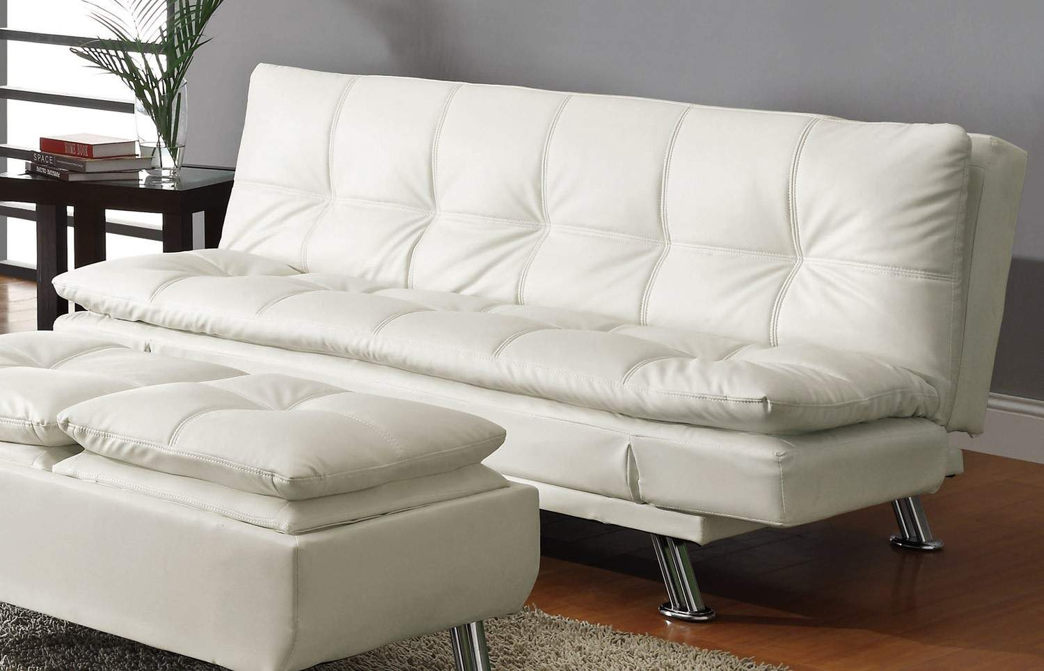 Sofa beds contemporary styled futon sleeper sofa with for Furniture sofa bed