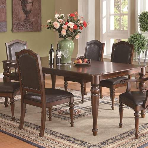 Anson Transitional Dining Table With Arrow Feet Quality