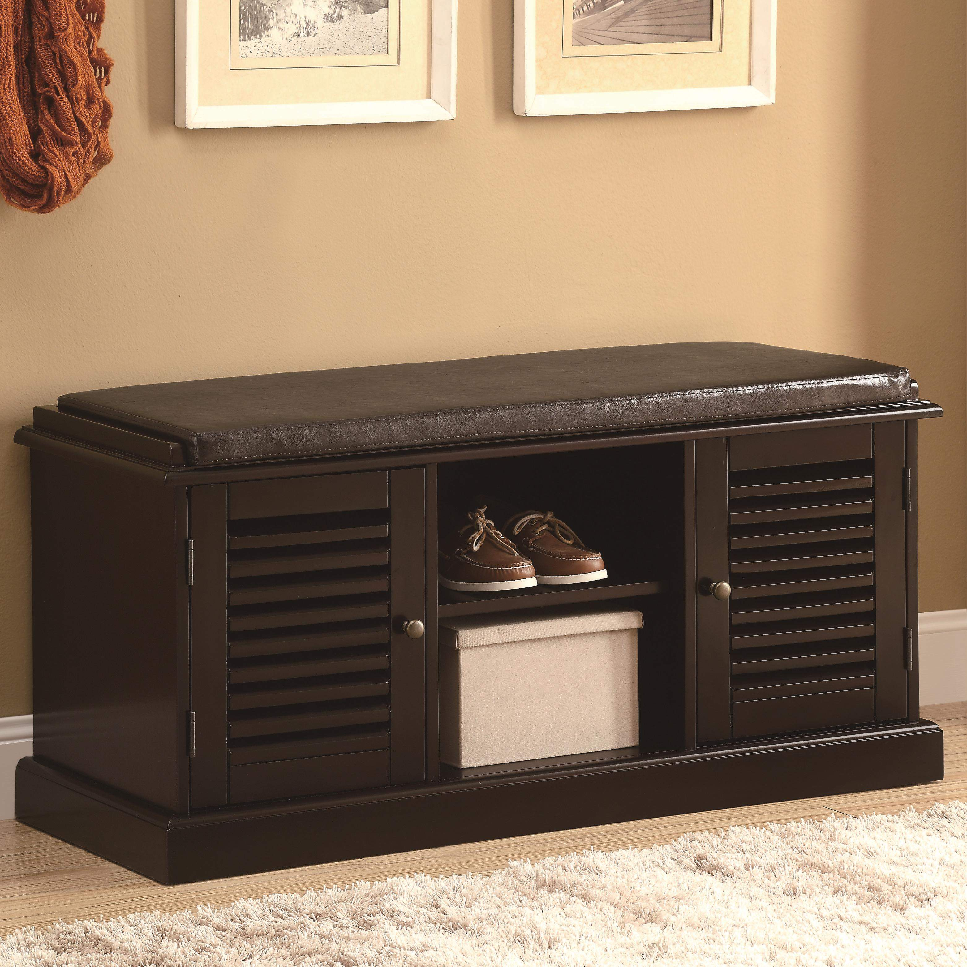 Benches Accent Bench With Storage Doors Quality