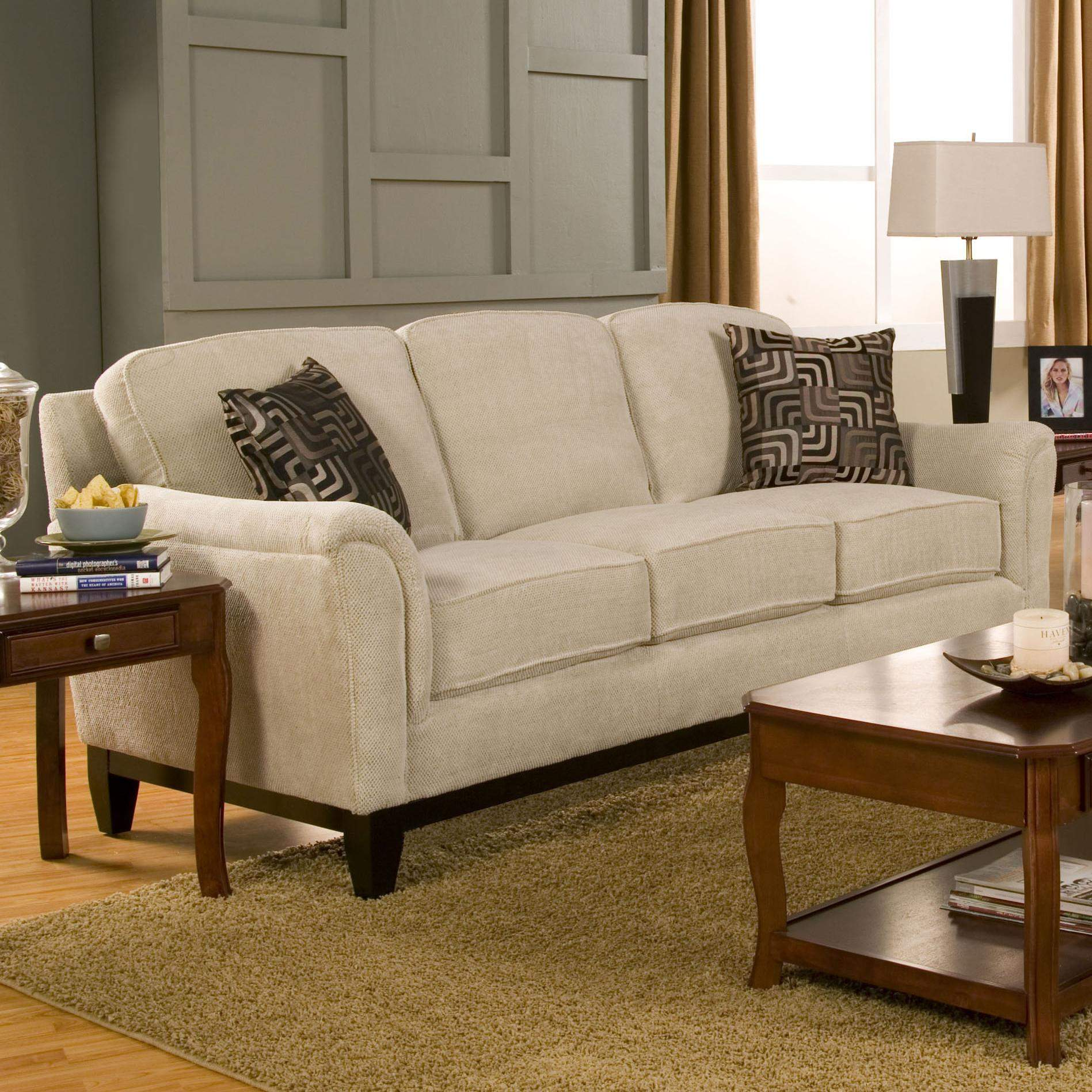 Carver Sofa With Exposed Wood Base Quality Furniture At