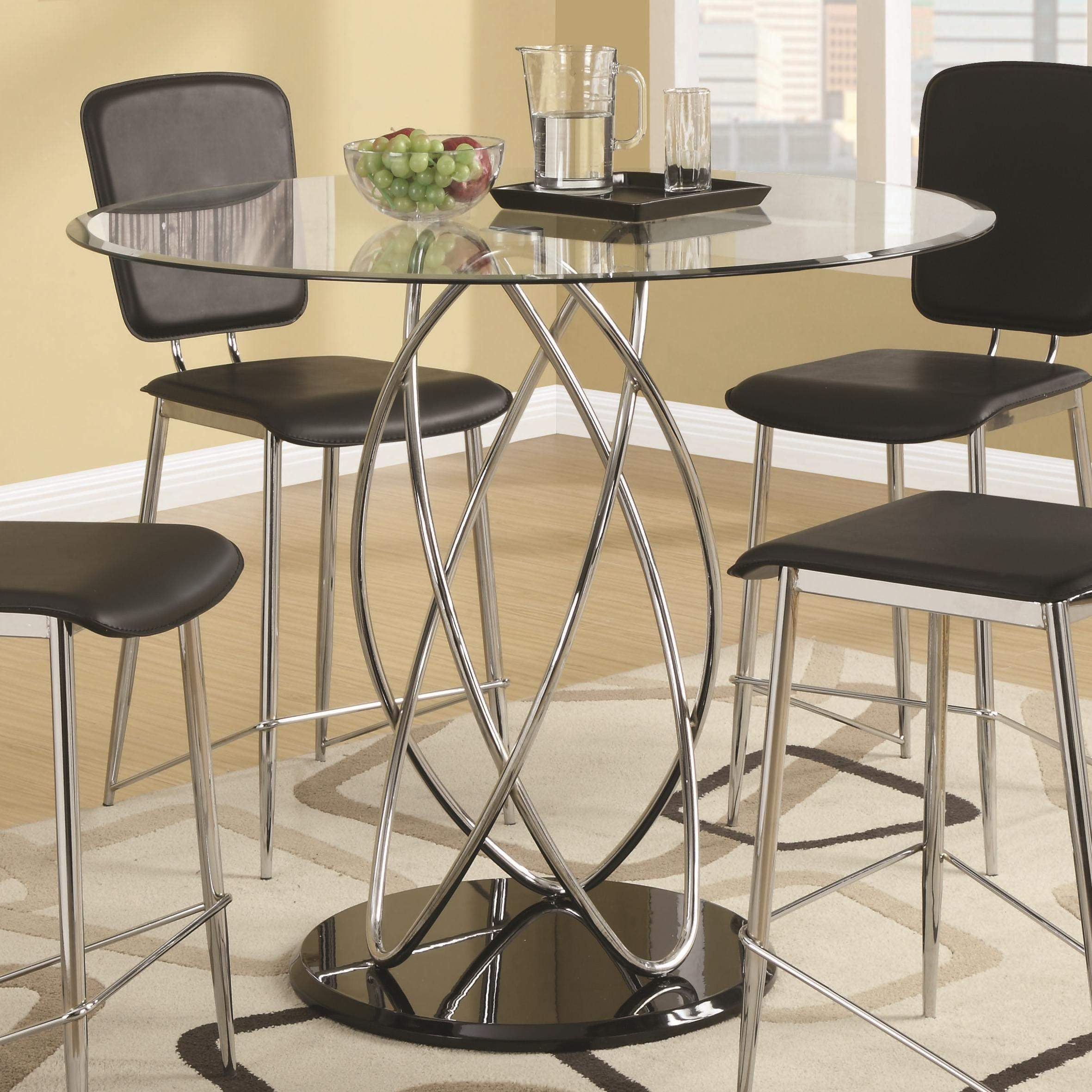 Ciccone Contemporary Glass Counter Height Table ...