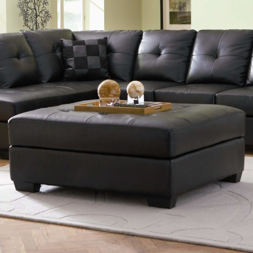 darie leather cocktail ottoman with wood feet quality furnit