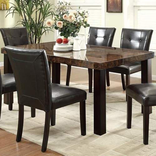 Orlando Rectangular Dining Table With Faux Marble Top Quality Furniture At Affordable Prices In Philadelphia Main Line Pa