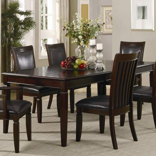 Coaster Lexton 101561 Rectangular Dining Table With 18: Ramona Formal Rectangular Dinner Table