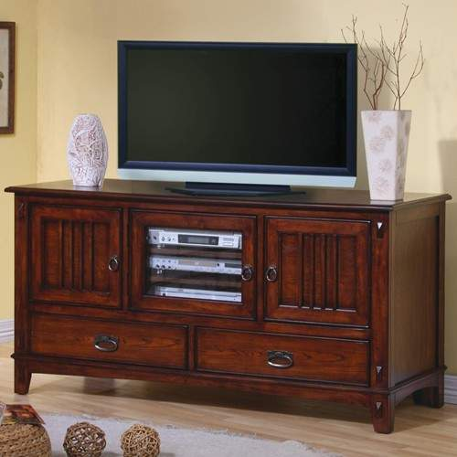 Tv Stands Mission Style Media Console With Doors And