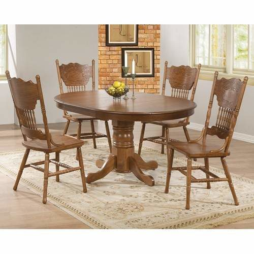 Brooks 5 Piece Table Set With Oak Finish Round Oval Table Quality Furniture At Affordable Prices In Philadelphia Main Line Pa