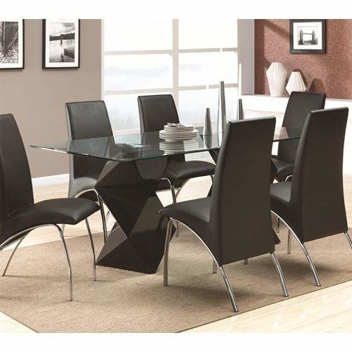 Ophelia Contemporary 7 Piece Dining Set with Rectangular  : Ophelia 1817348091208016x02 b2 500x500 from furniturewares.com size 500 x 500 jpeg 28kB