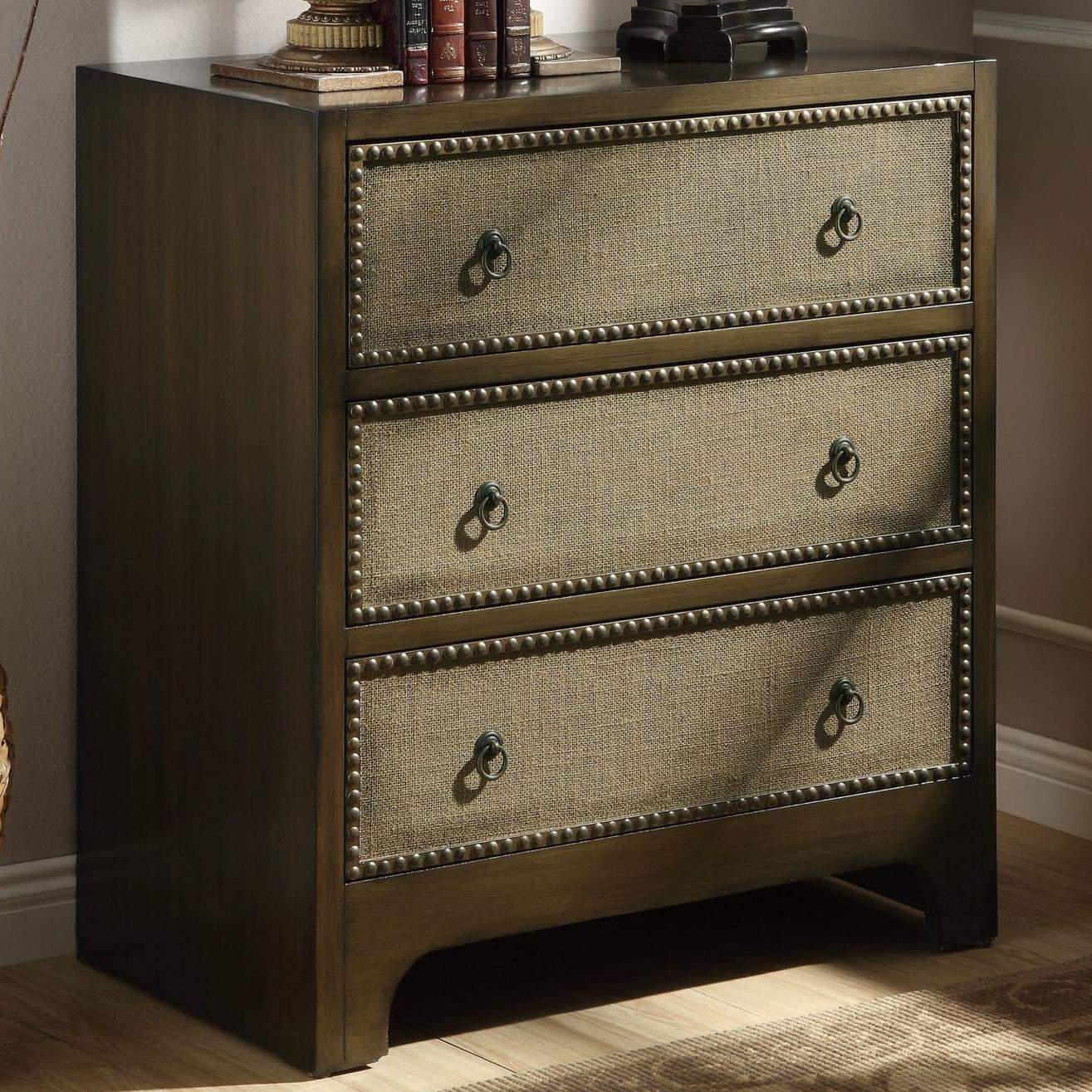 Accent Cabinets 3 Drawer Cabinet With Linen Drawer Fronts Quality Furniture At