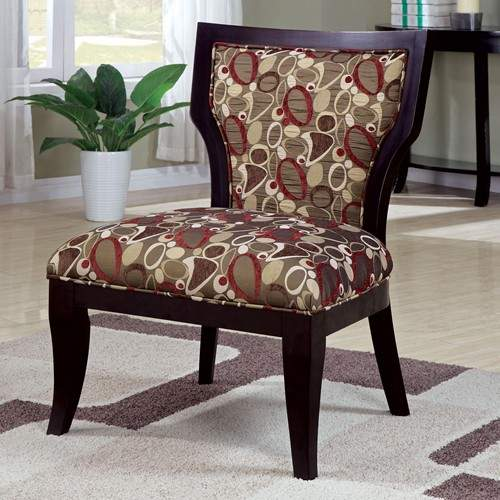 Accent Seating Armless Accent Chair With Exposed Wood