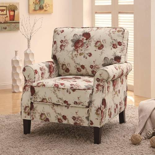 Accent Seating Upholstered Floral Accent Chair