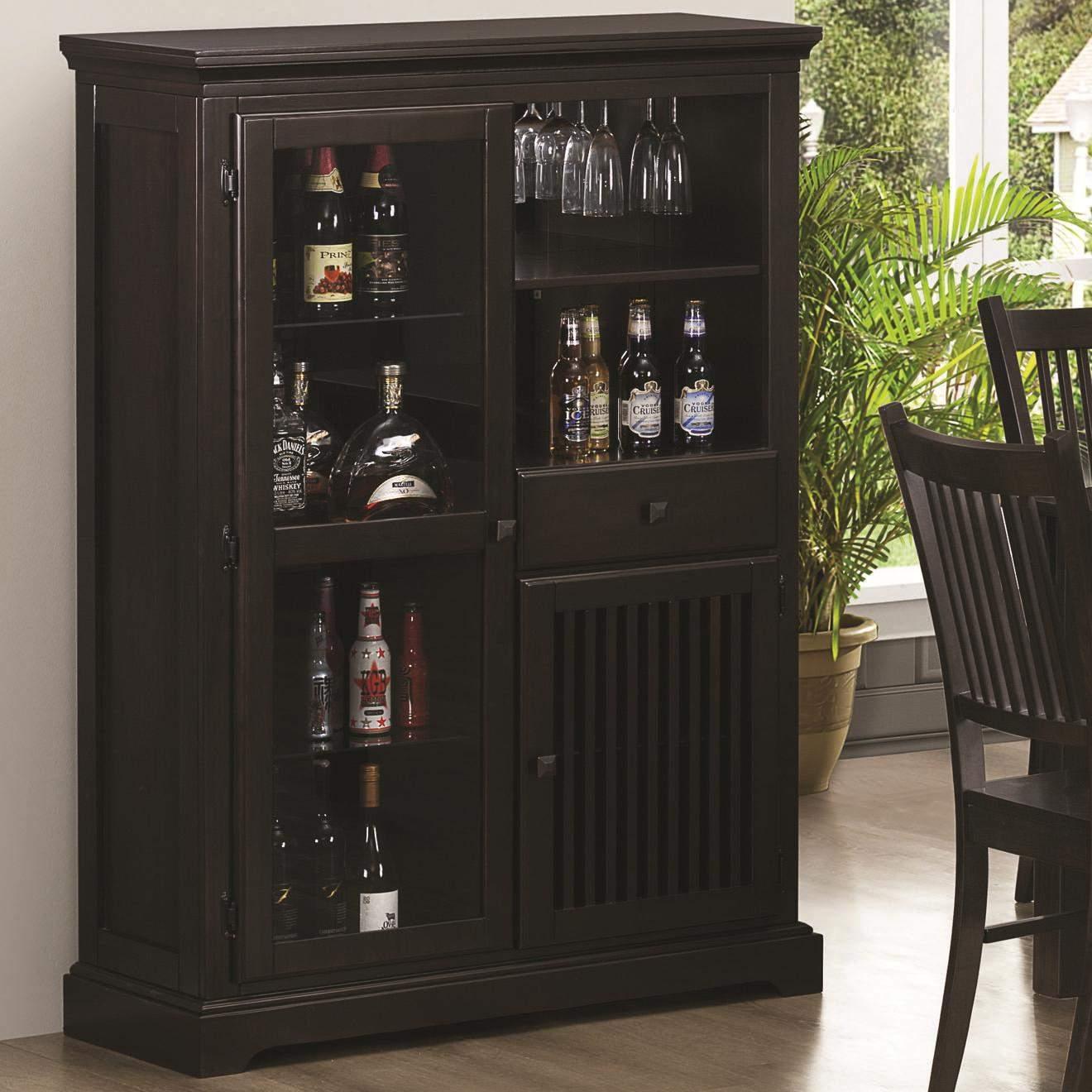 Marbrisa Mission Style Bar Cabinet ...