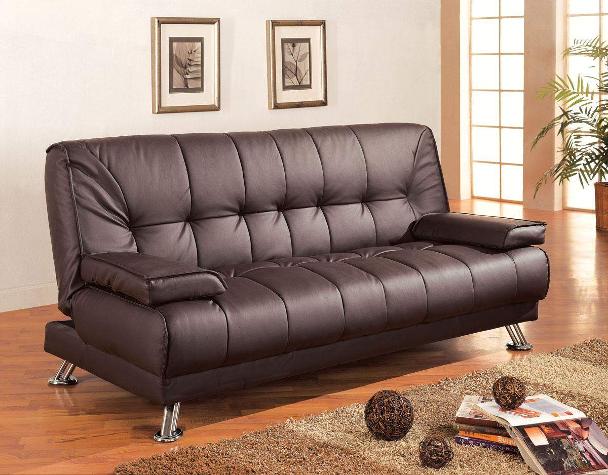 Sofa Beds Faux Leather Convertible Sofa Bed With Removable