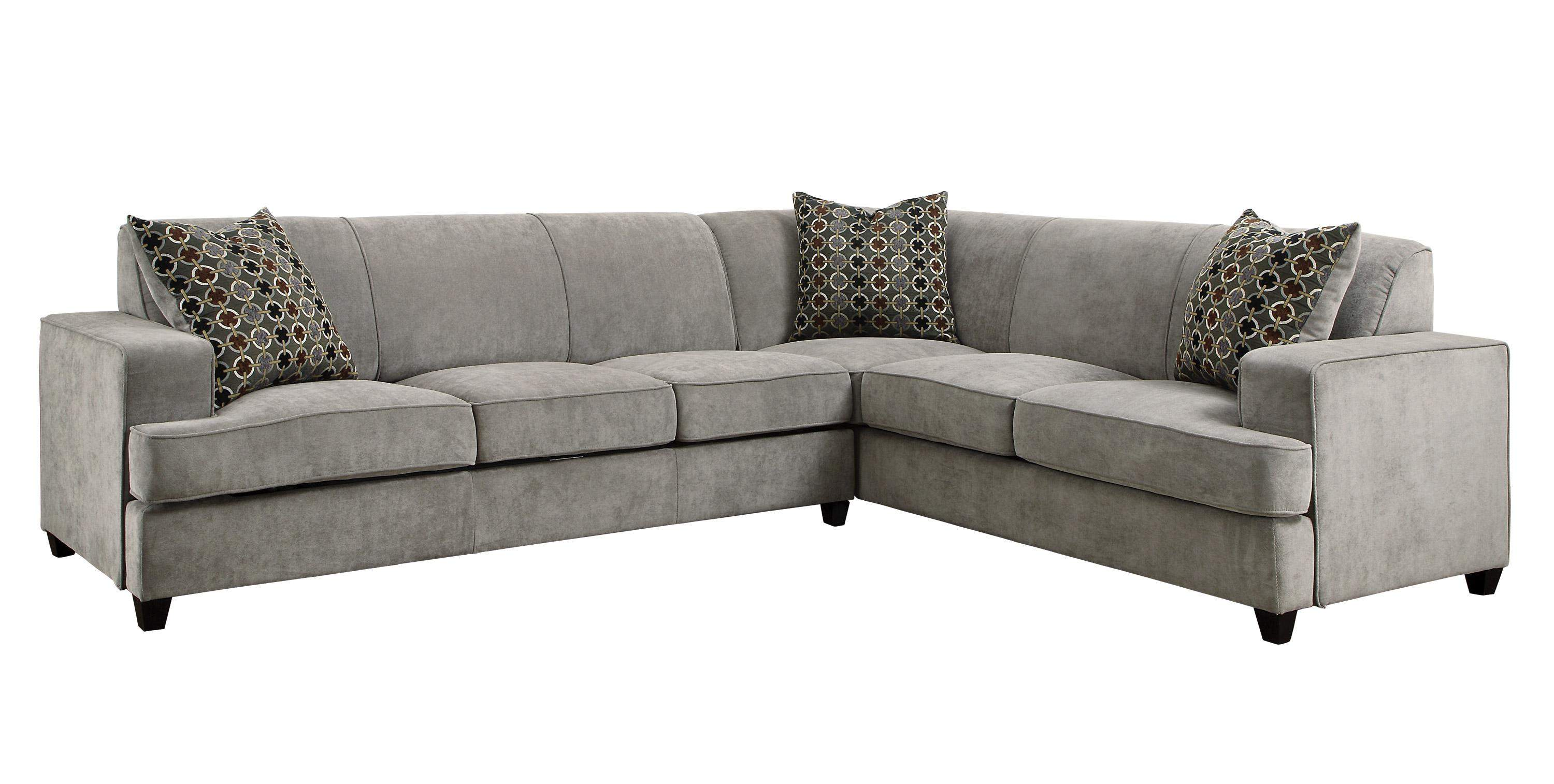Tess Casual Grey Fabric Sectional Sofa For Corners With