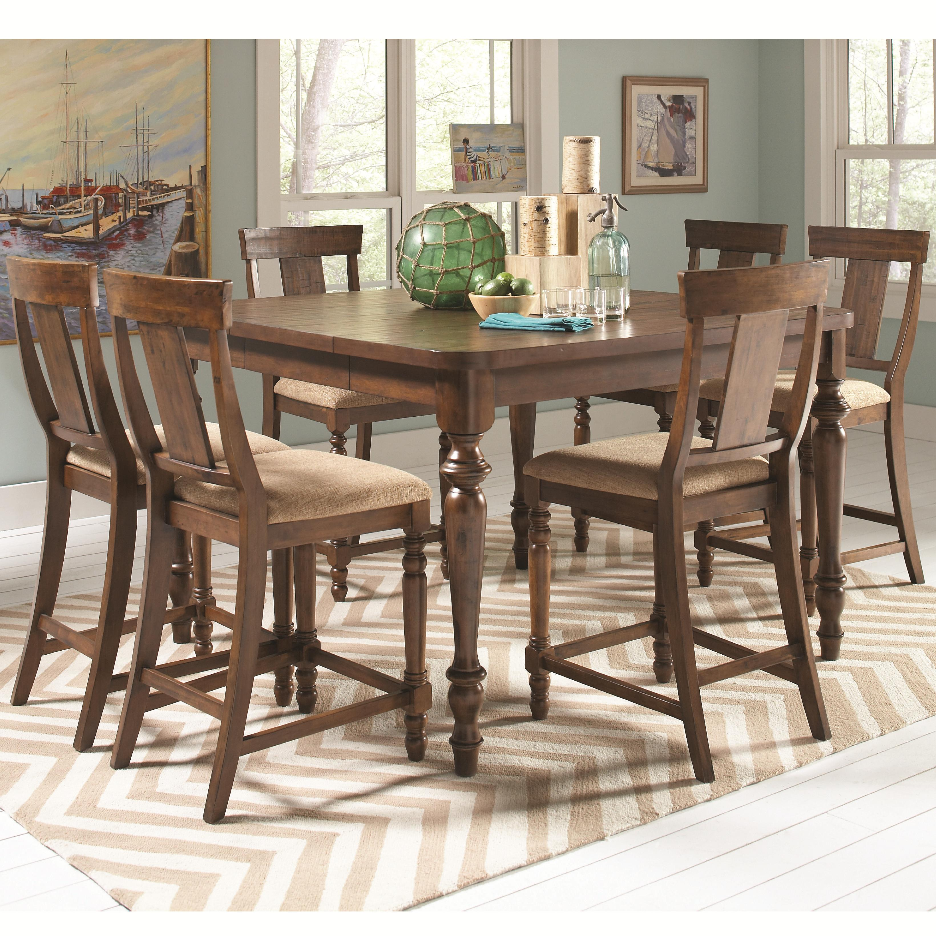 Jonas counter height table with 6 chairs quality for Jonas furniture