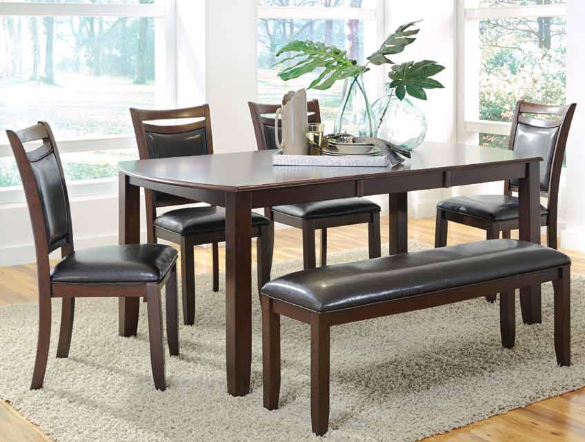 Dupree Casual Dining Table Amp Bench With 4 Side Chairs
