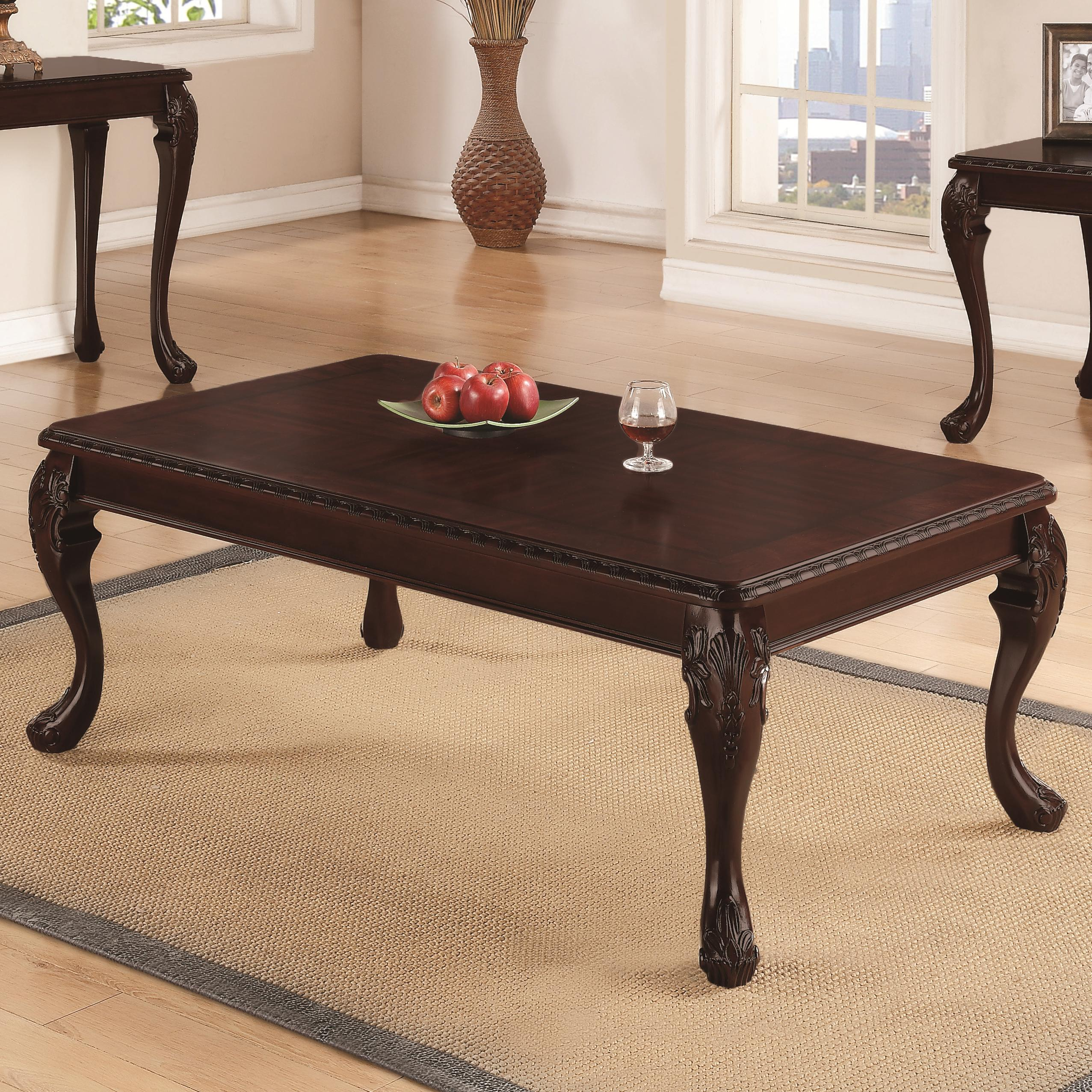 Occasional group traditional detailed coffee table quality furniture at affordable prices in Traditional coffee table