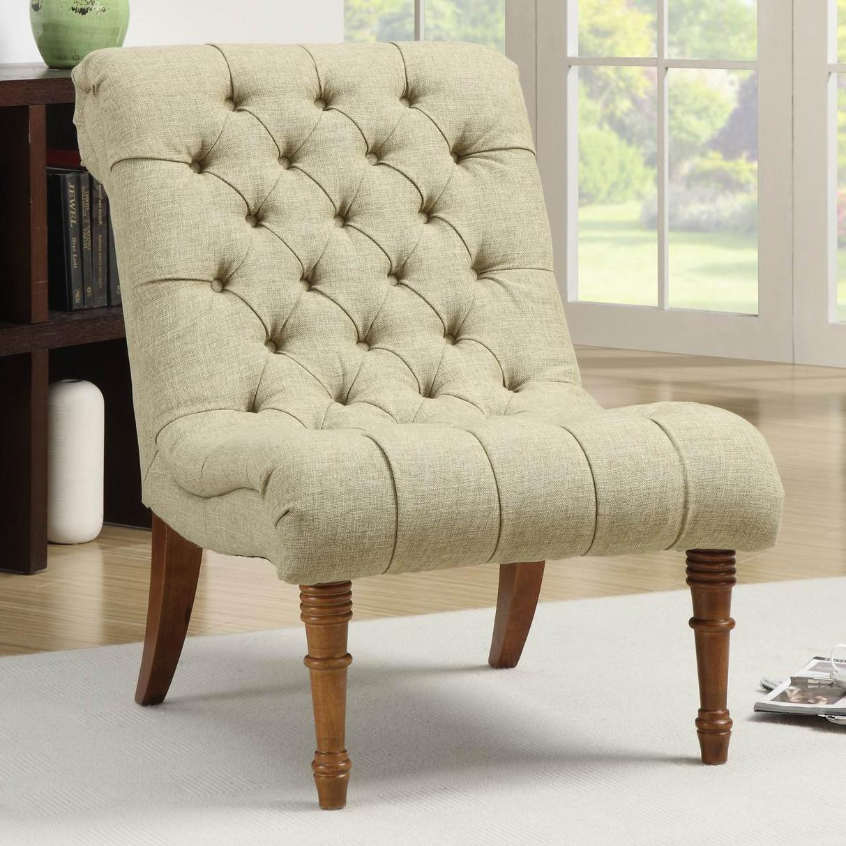 Accent Seating Tufted Accent Chair Without Arms Quality