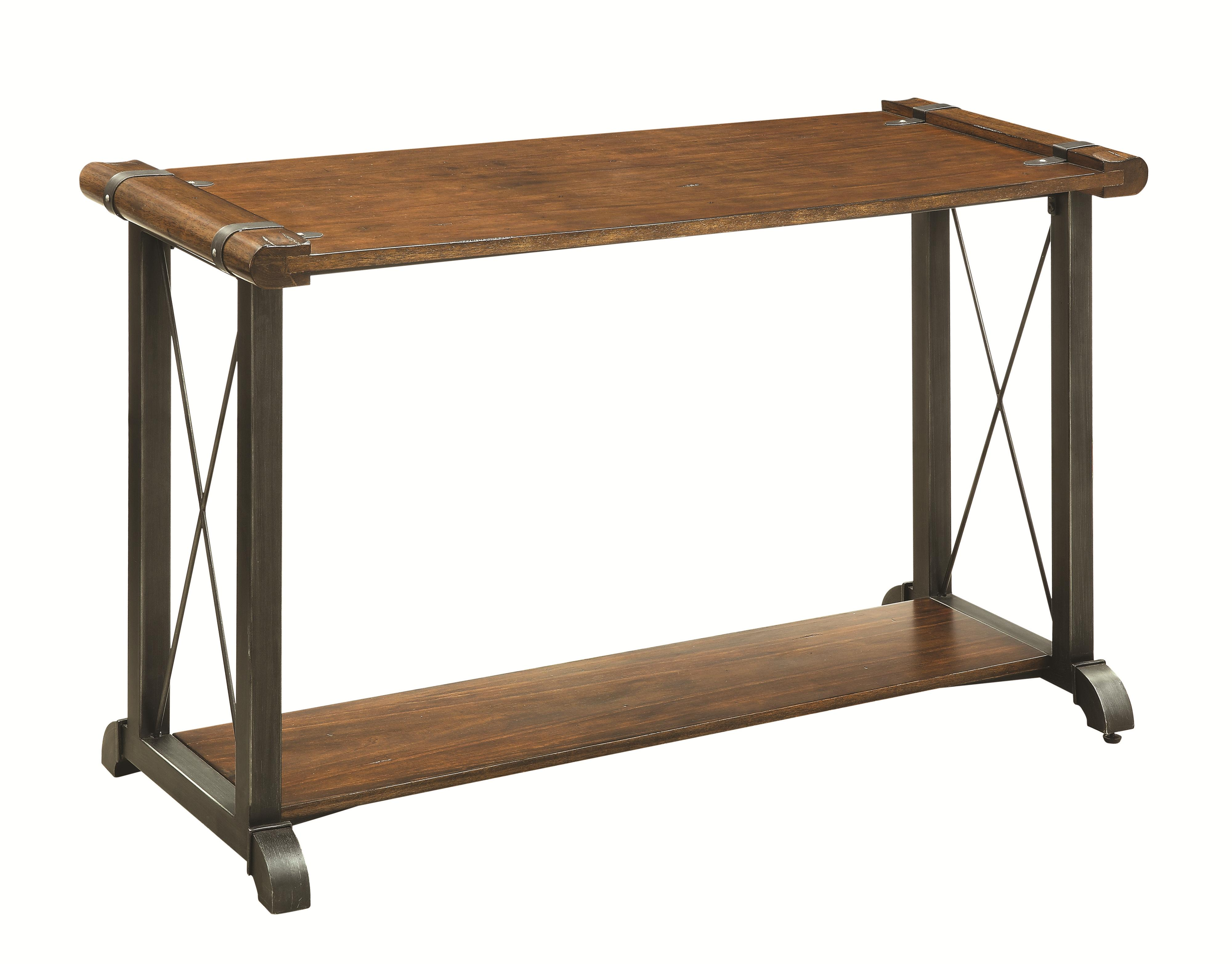 Occasional group 70331 sofa table with metal accents for Sofa table metal