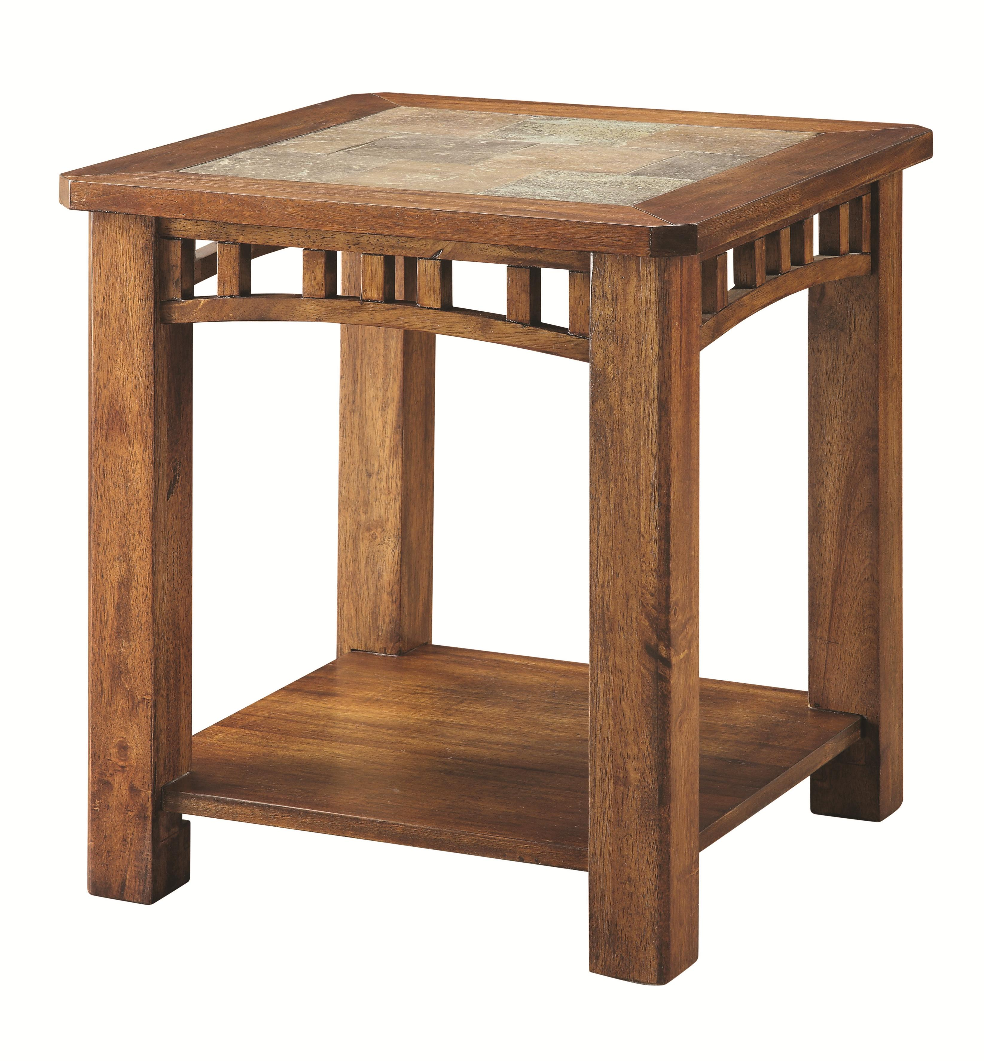 Occasional Group 70332 Square End Table With Slate Top