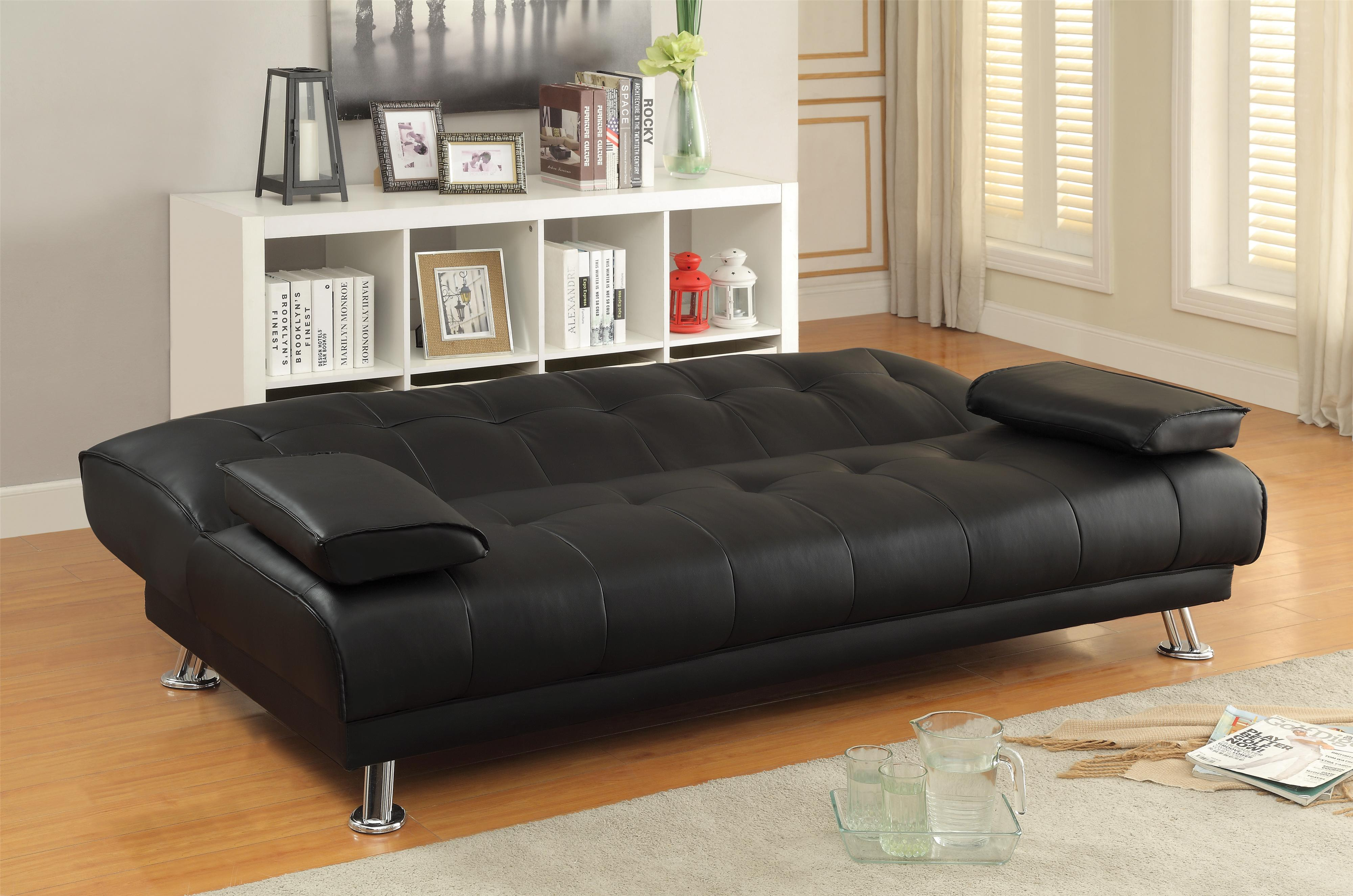 Sofa beds and futons faux leather convertible sofa bed with removable armrests quality Convertible couch bunk bed