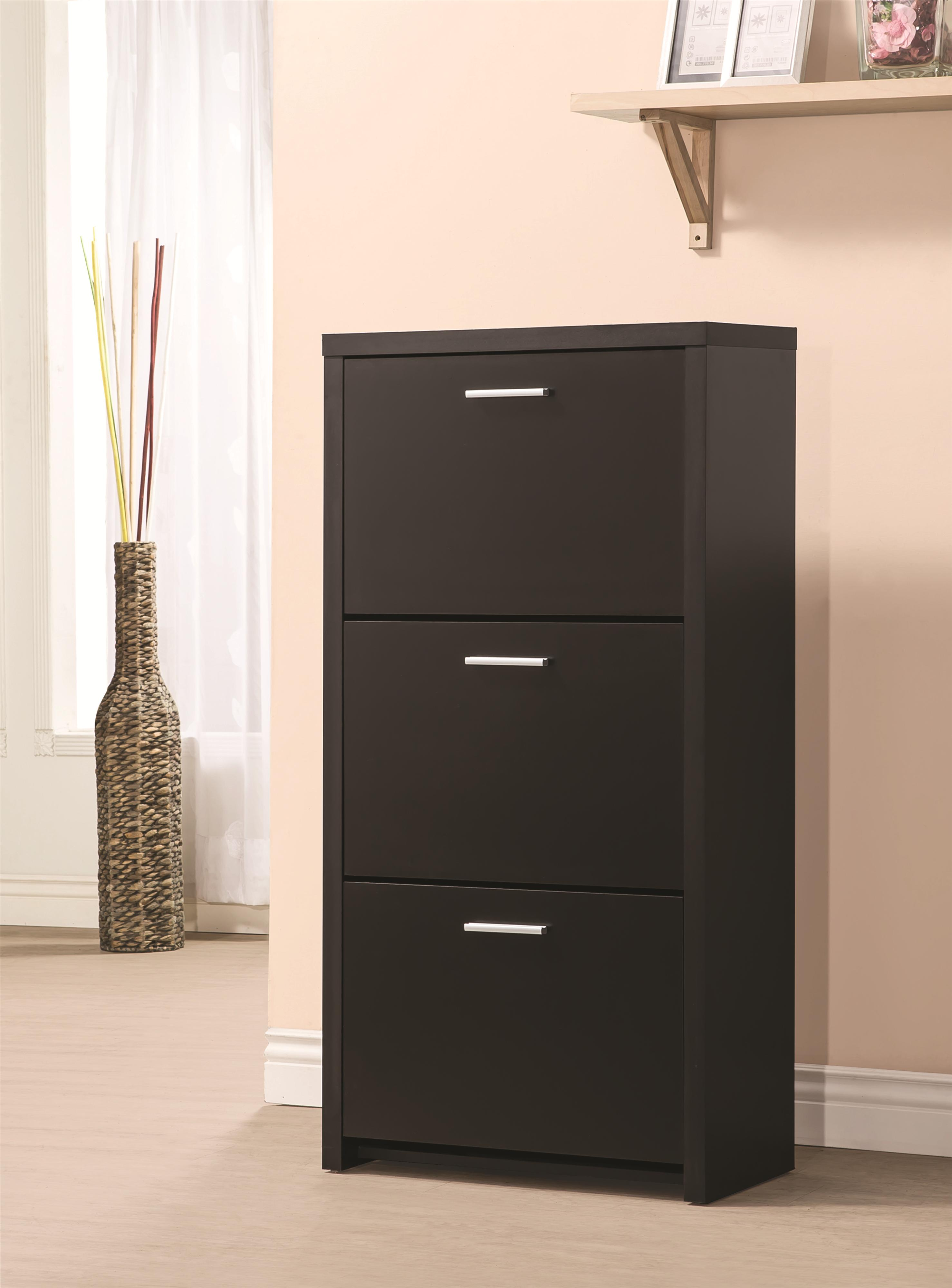 Accent Cabinets Tall 3 Drawer Shoe Cabinet Quality