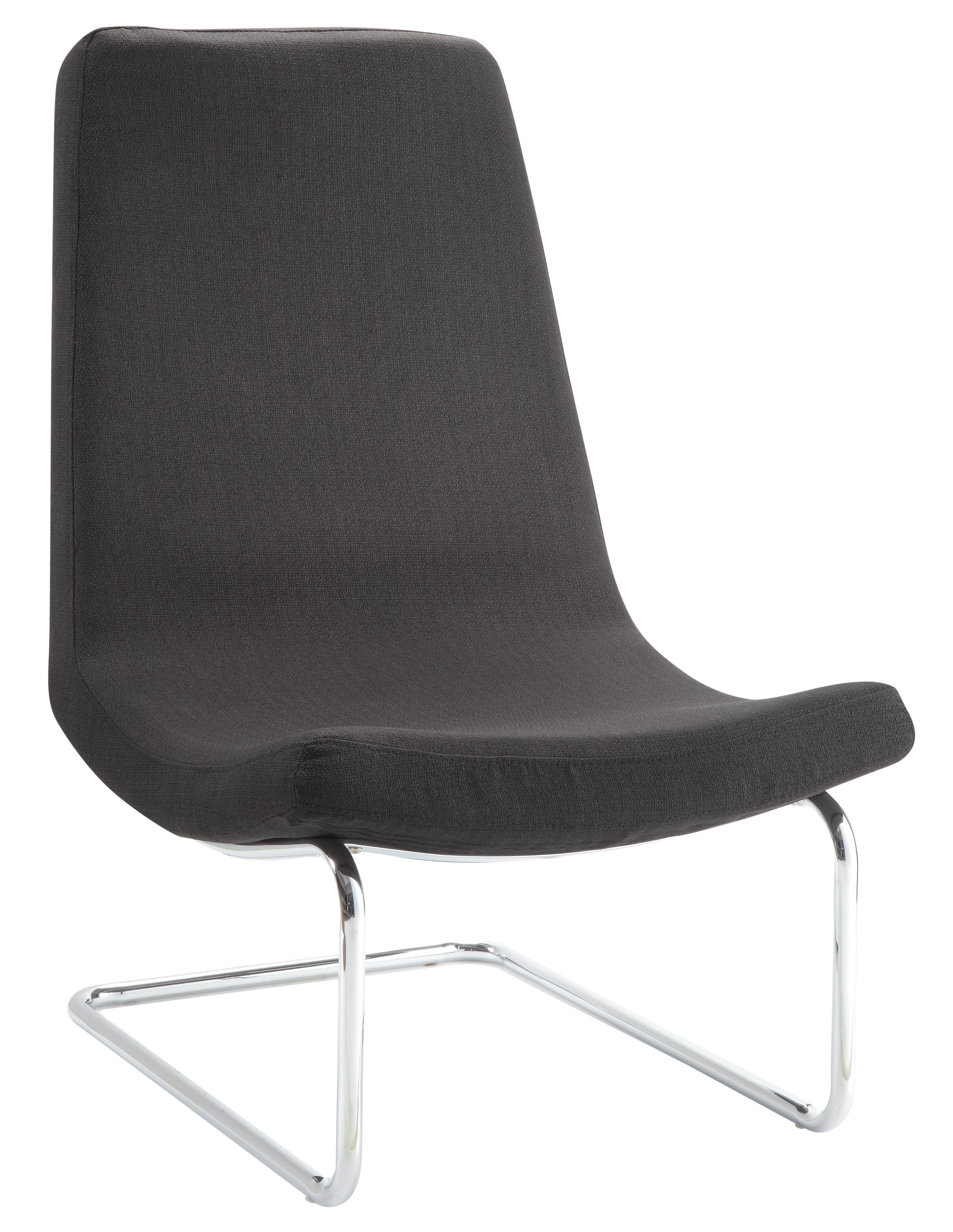 Accent Seating Modern Accent Chair With Chrome Cantilever