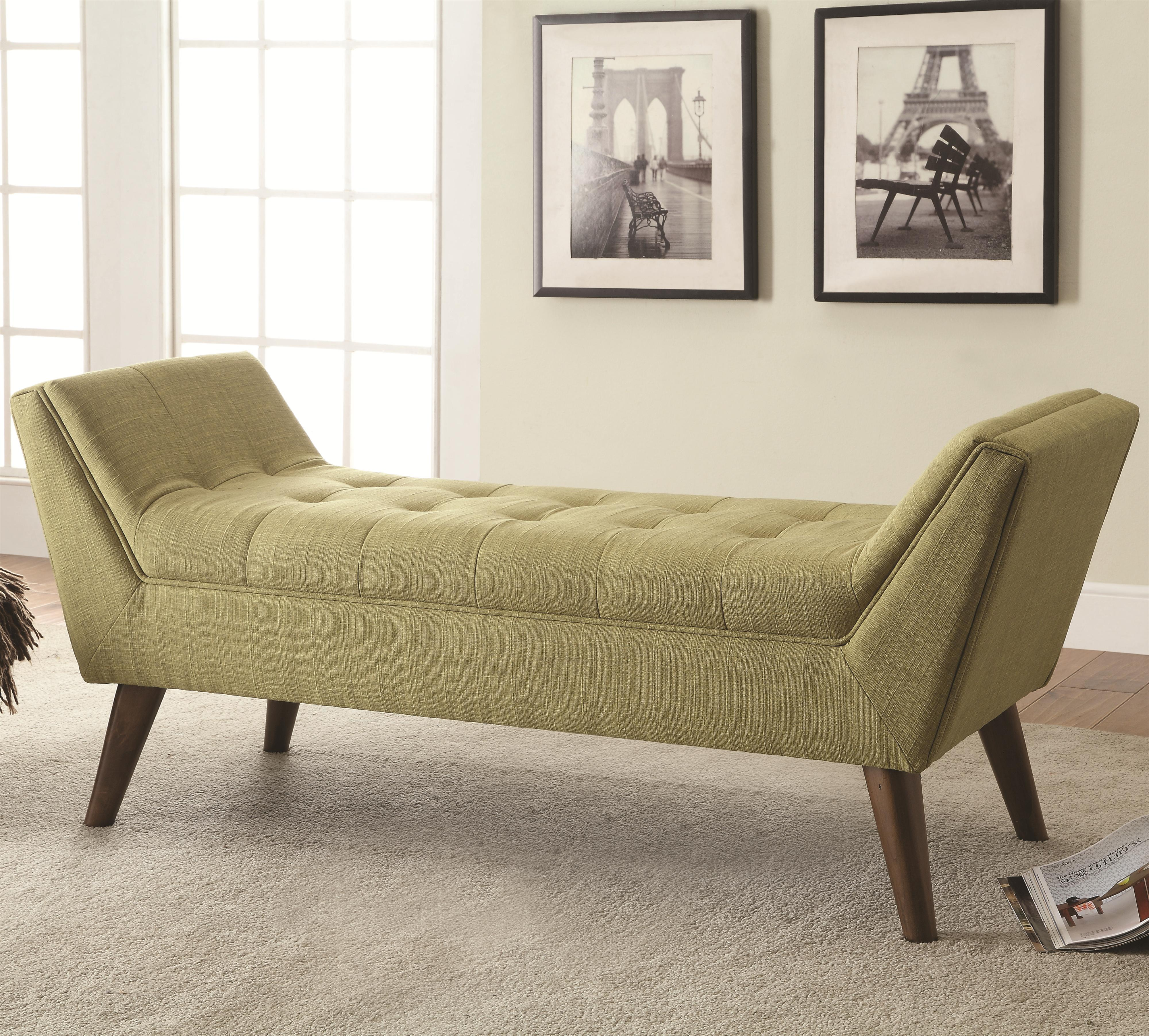 Modern Furniture Bench benches mid-century modern upholstered accent bench | quality