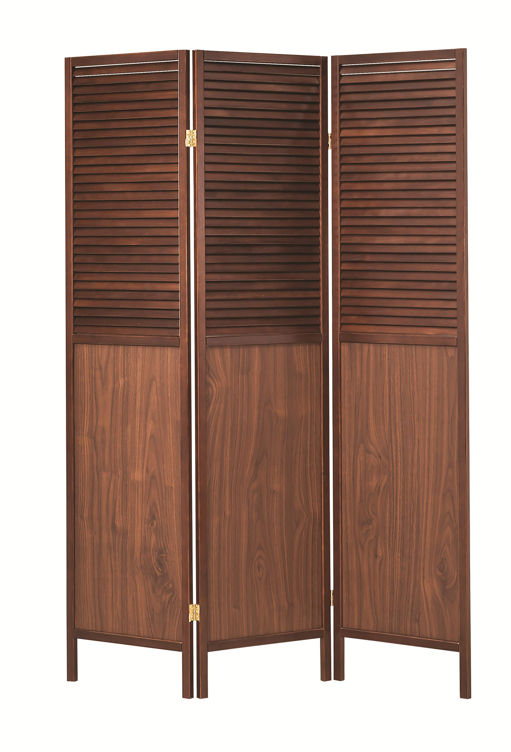Folding Screens Natural Mission Style Wood Slat Folding