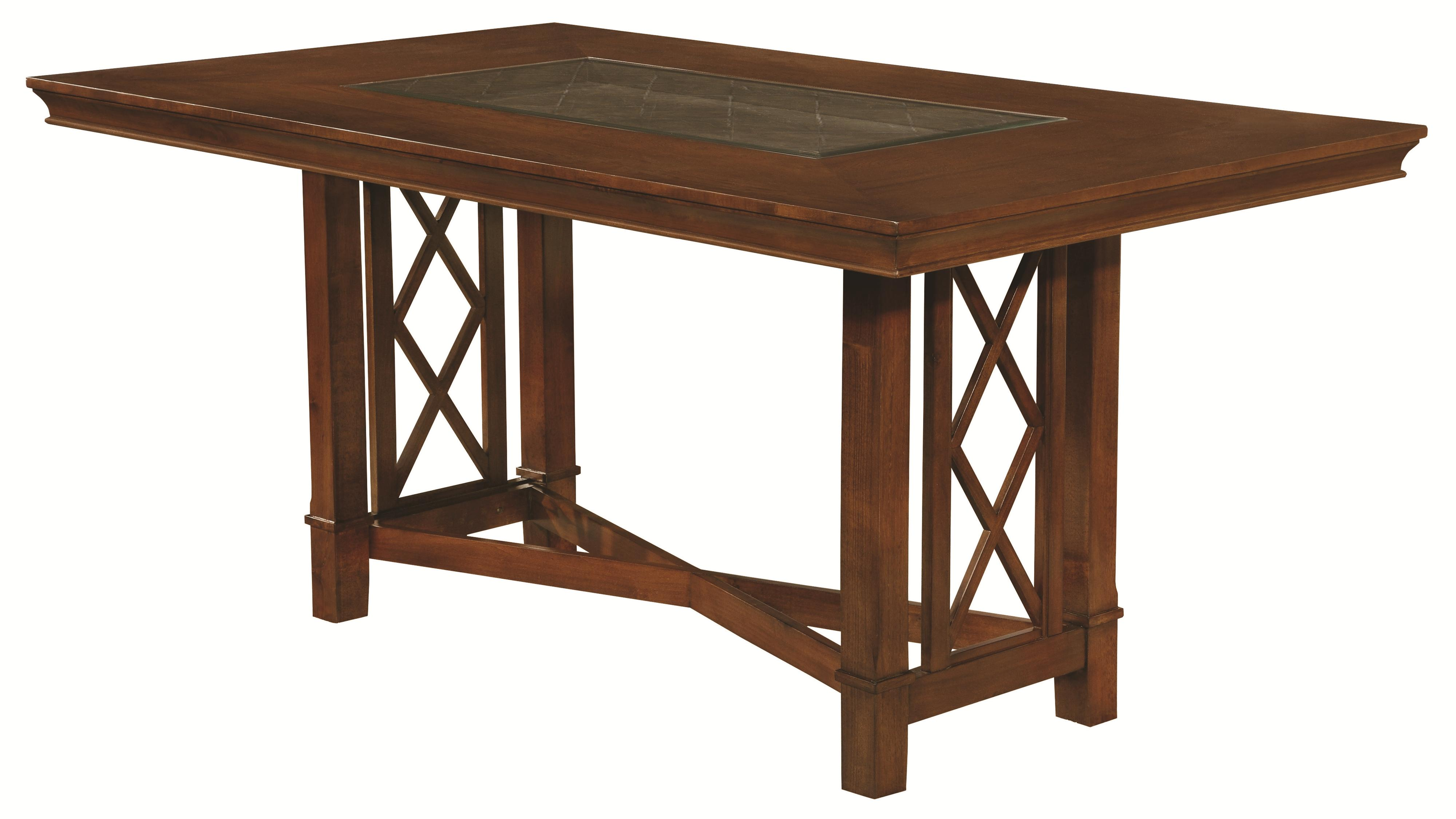 Pembrook 7 piece transitional style counter height table for Table height stools