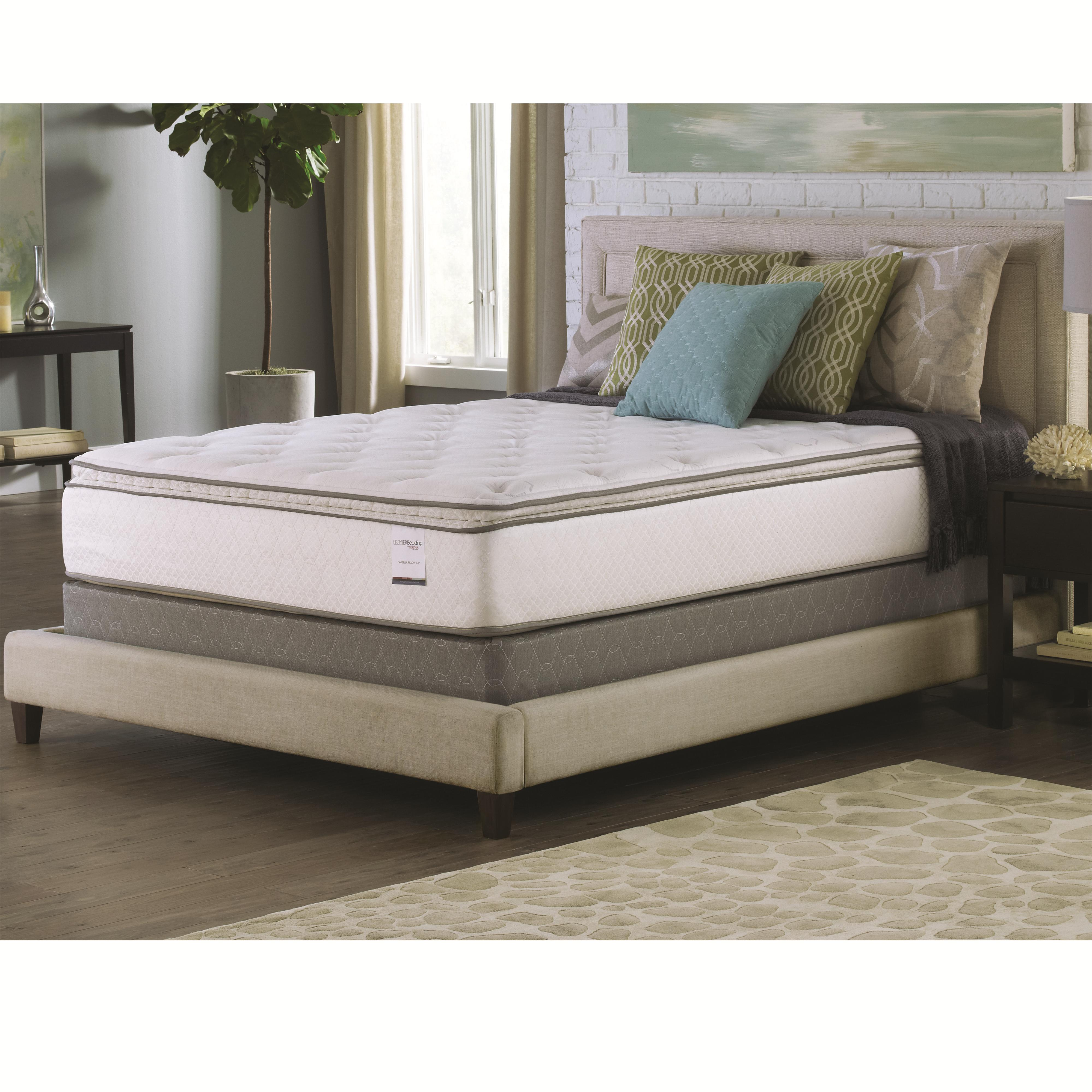 Marbella Mattress 13 5 Queen Pillow Top Mattress And Foundation Quality Furniture At