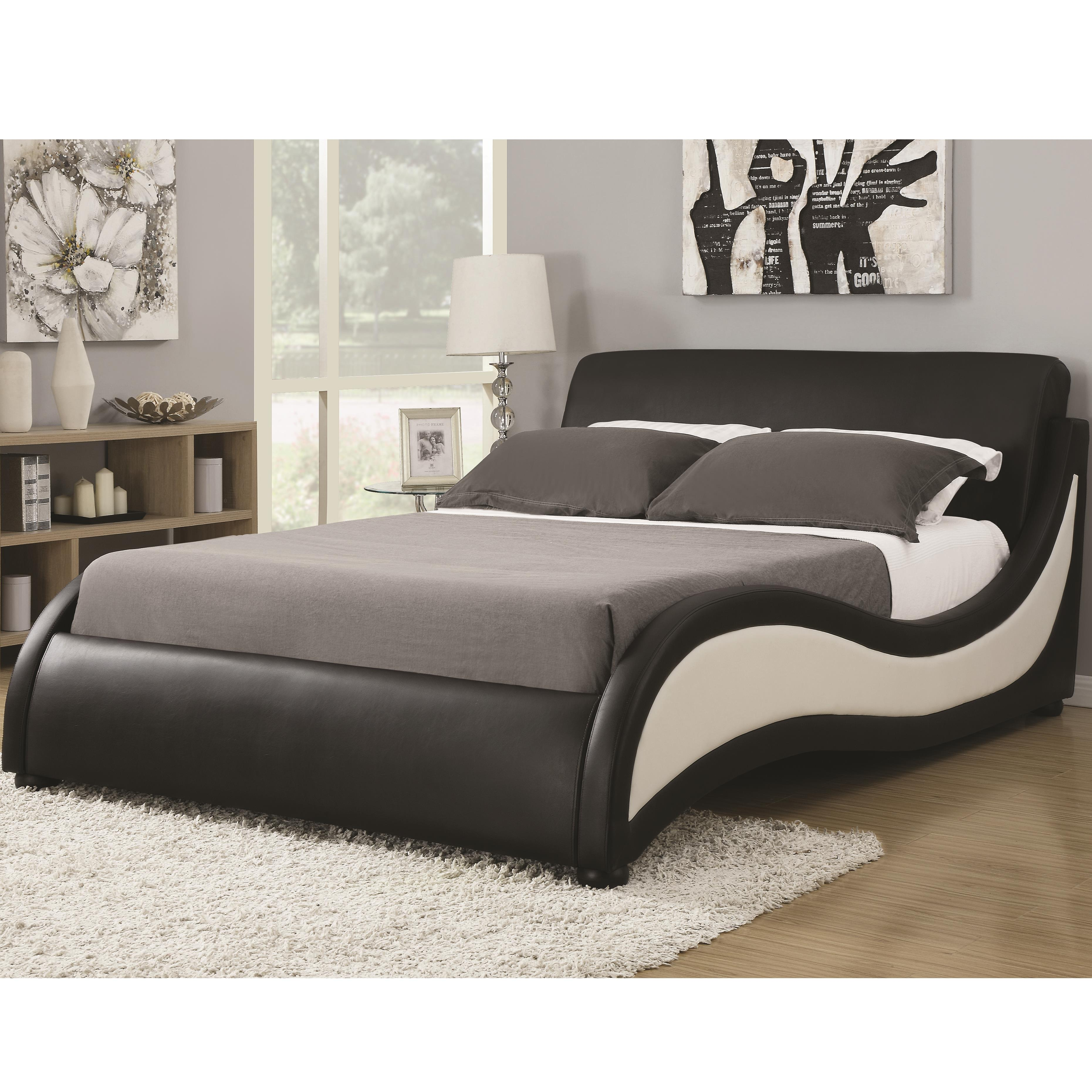 king niguel modern contemporary platform upholstered bed quality furniture at affordable. Black Bedroom Furniture Sets. Home Design Ideas