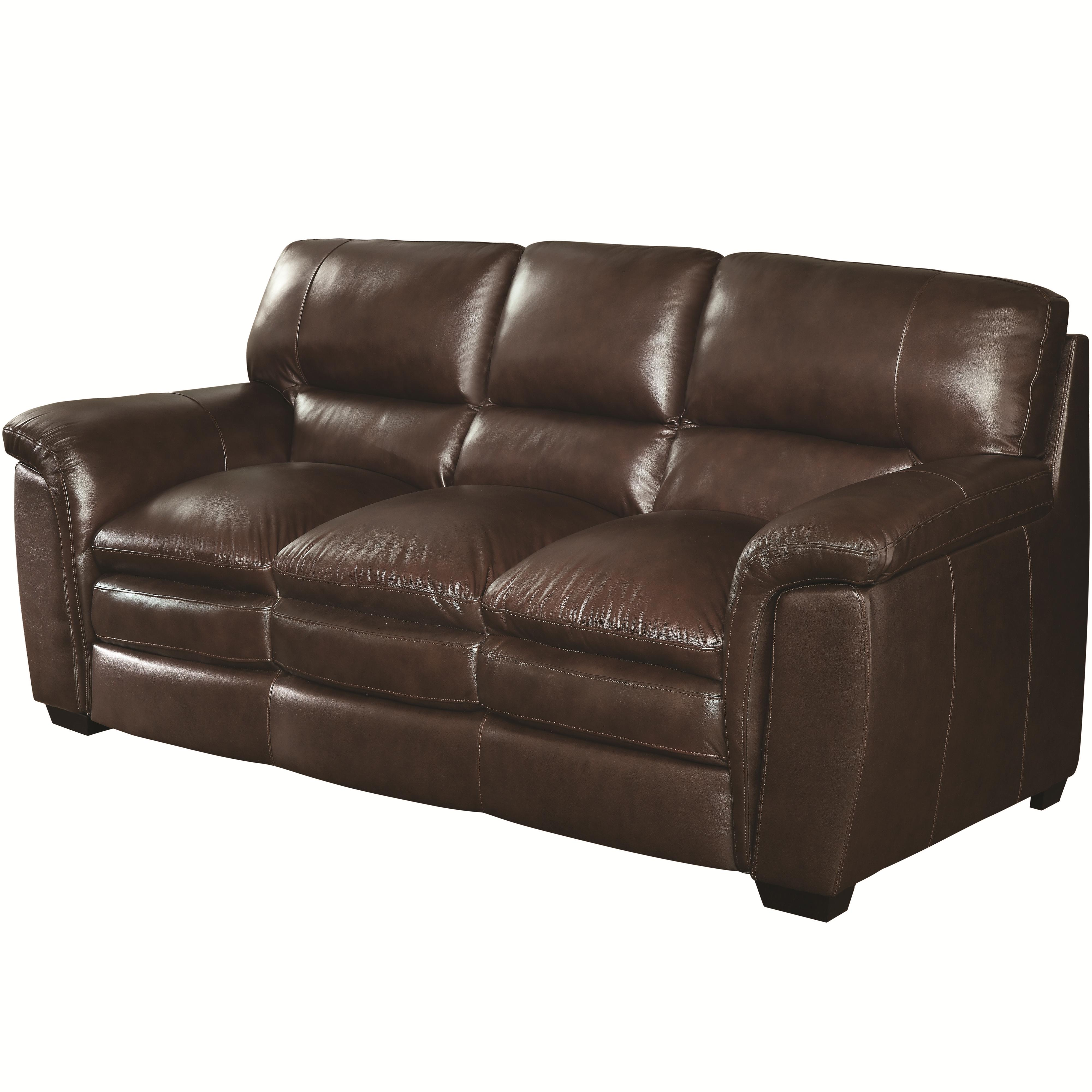Burton Transitional Sofa With Pillow Top Arms Quality Furniture  ~ Leather Sofa Pillow Top Arms