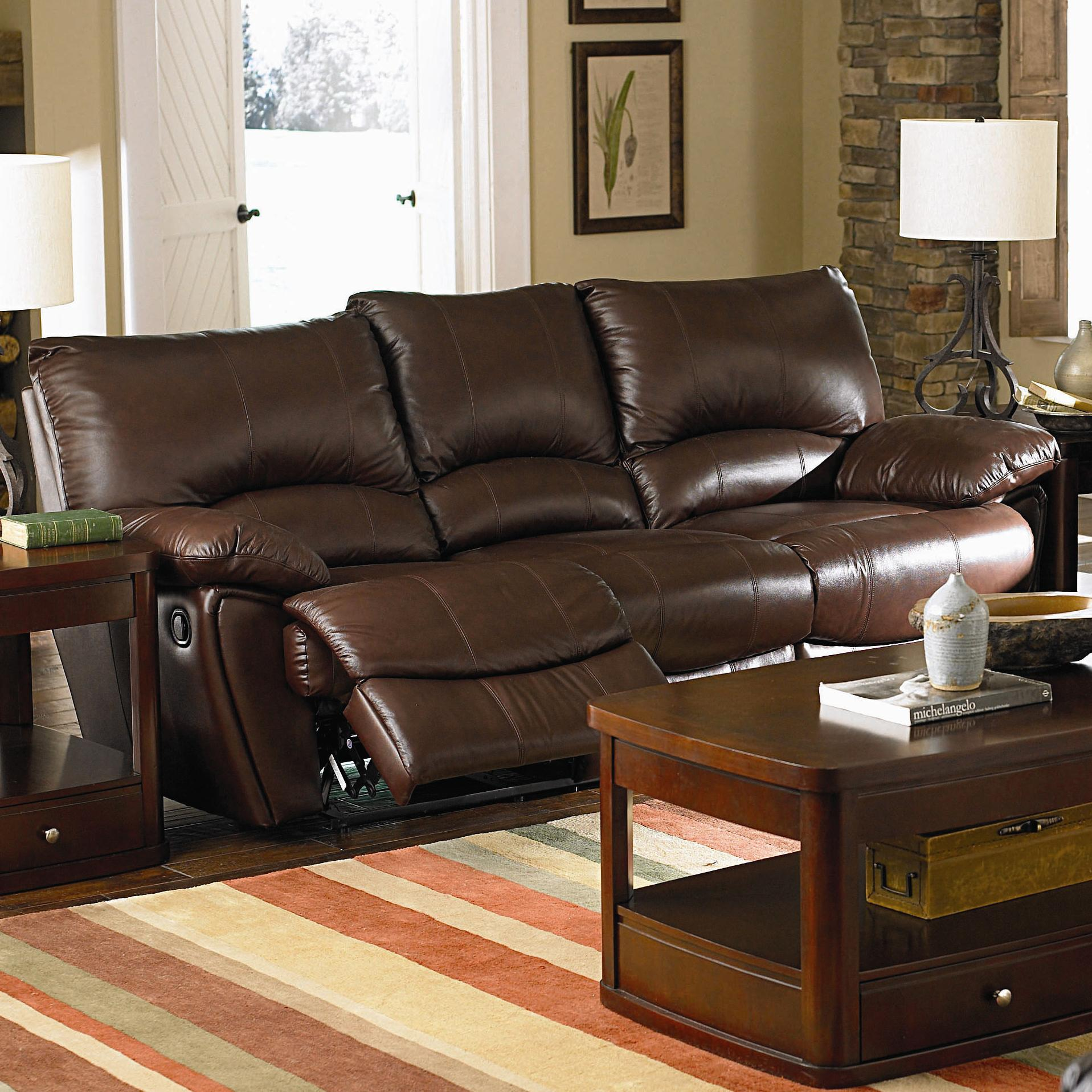 Swell Clifford Brown Leather Double Power Reclining Sofa Download Free Architecture Designs Grimeyleaguecom
