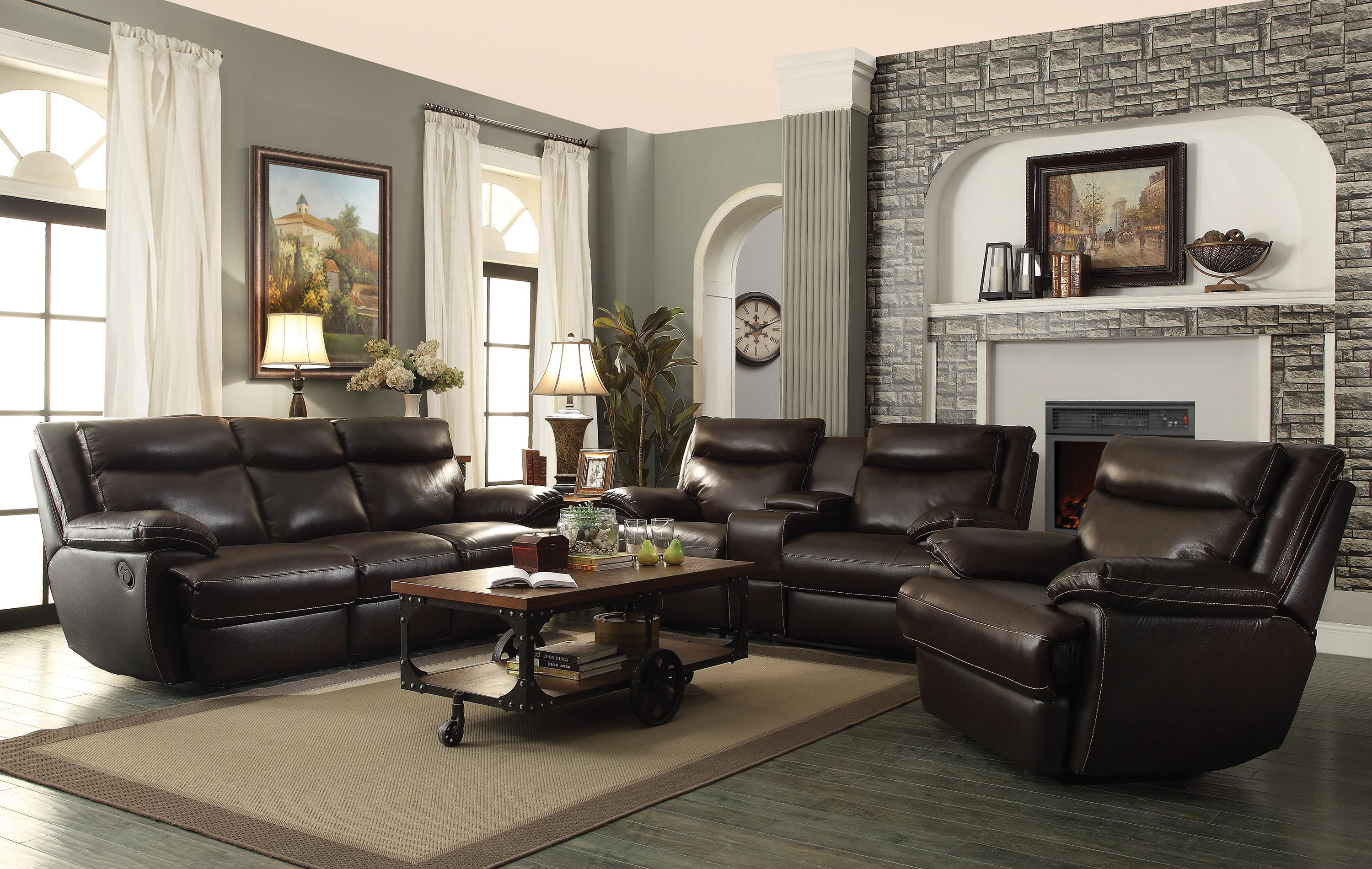 Phenomenal Macpherson Casual Leather Reclining Sofa Andrewgaddart Wooden Chair Designs For Living Room Andrewgaddartcom