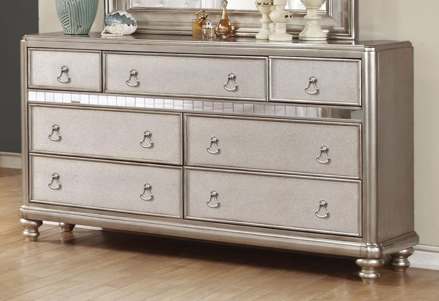 Bling Game Dresser With 7 Drawers And Stacked Bun Feet Quality Furniture At Affordable Prices