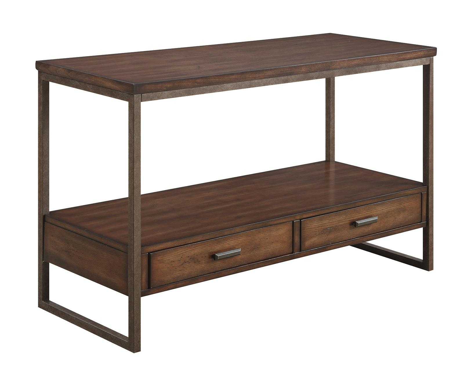 70430 Industrial Sofa Table With Two Drawers Quality