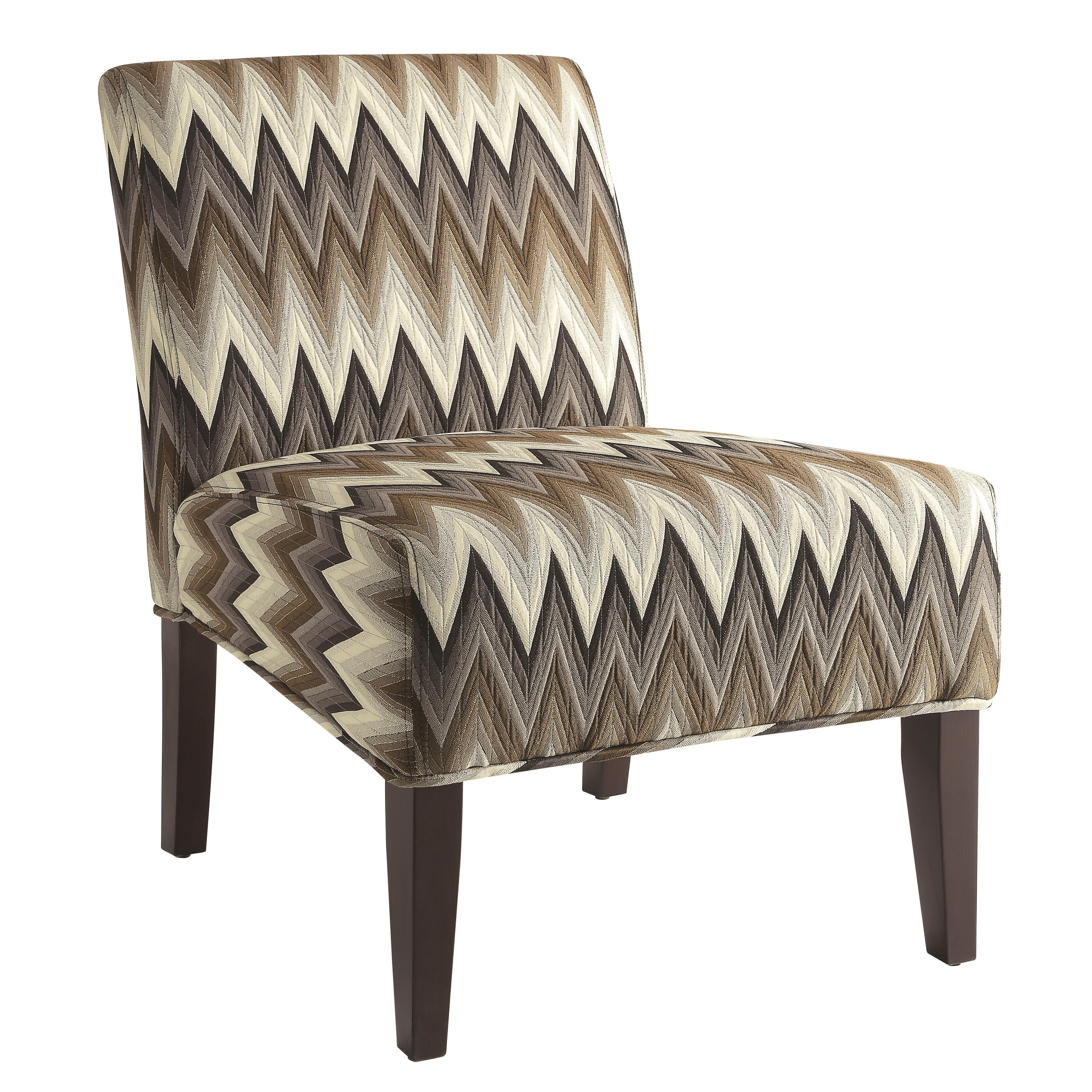 Accent Seating Upholstered Parsons Chair With Chevron