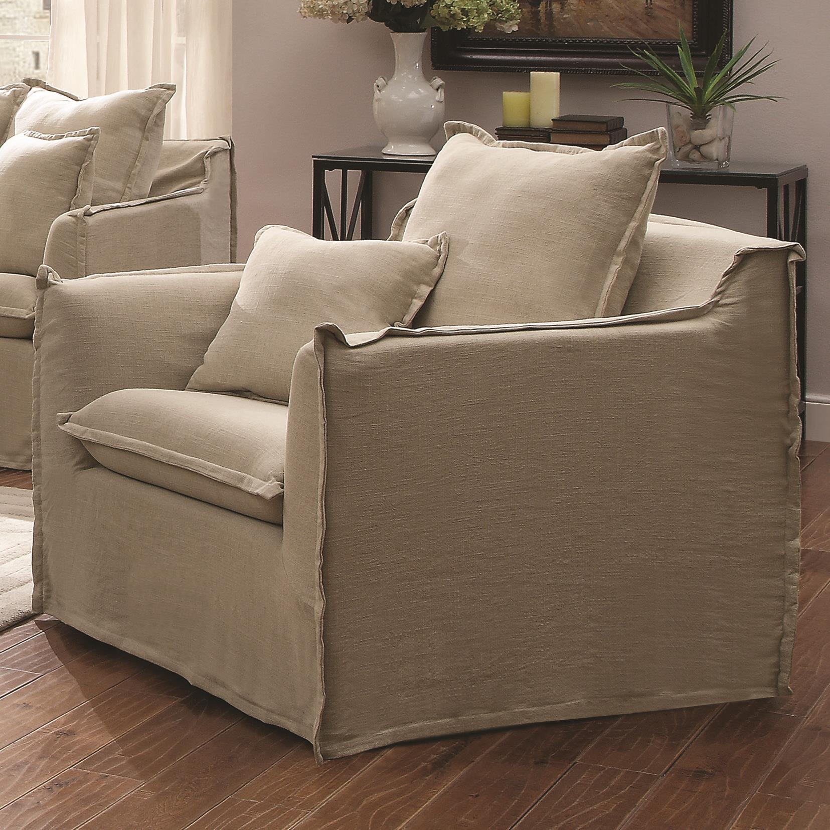 cooney casual sofa with flange trimmed washable slipcover