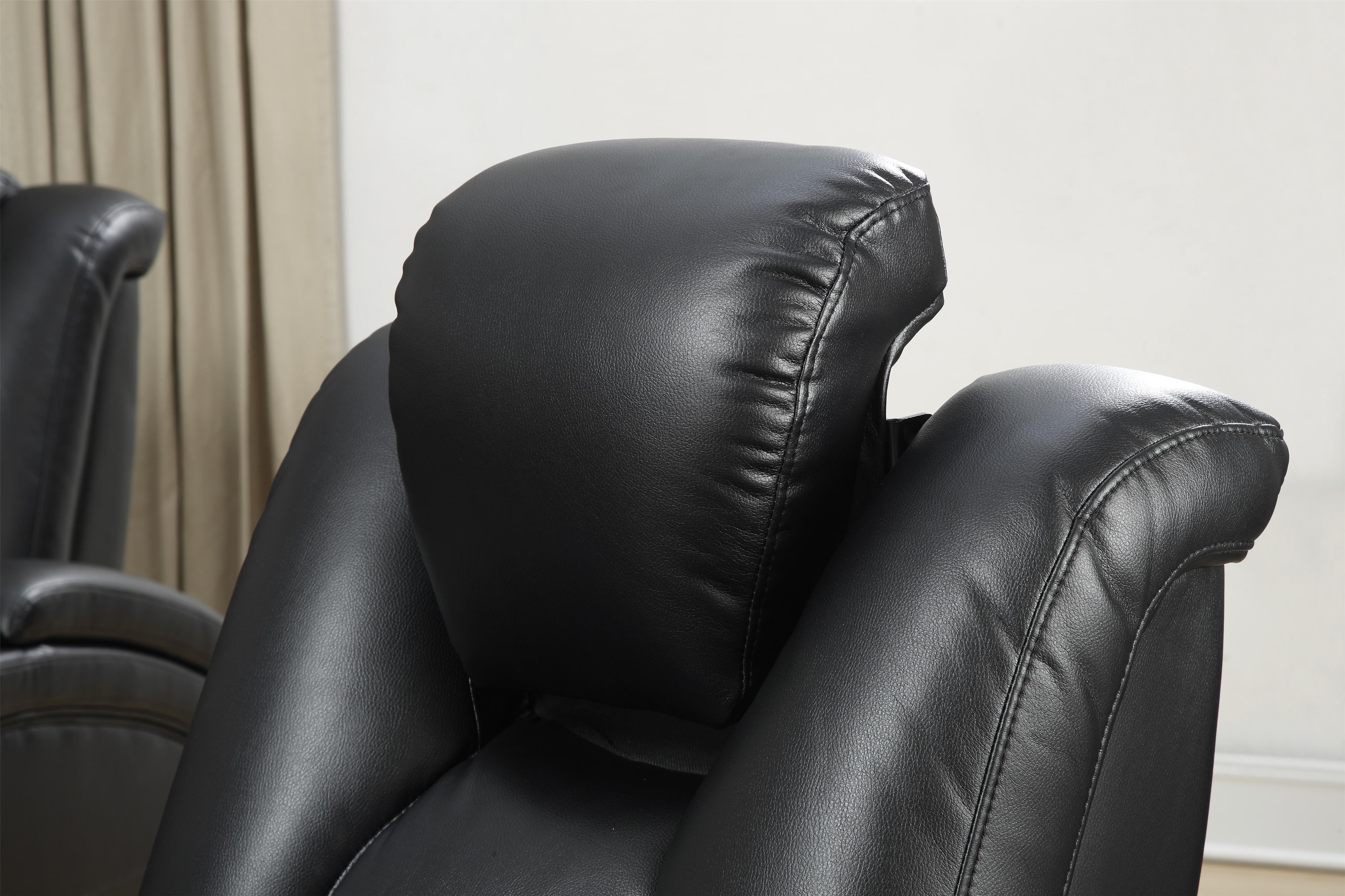 Delange Reclining Power Loveseat With Adjustable Headrests