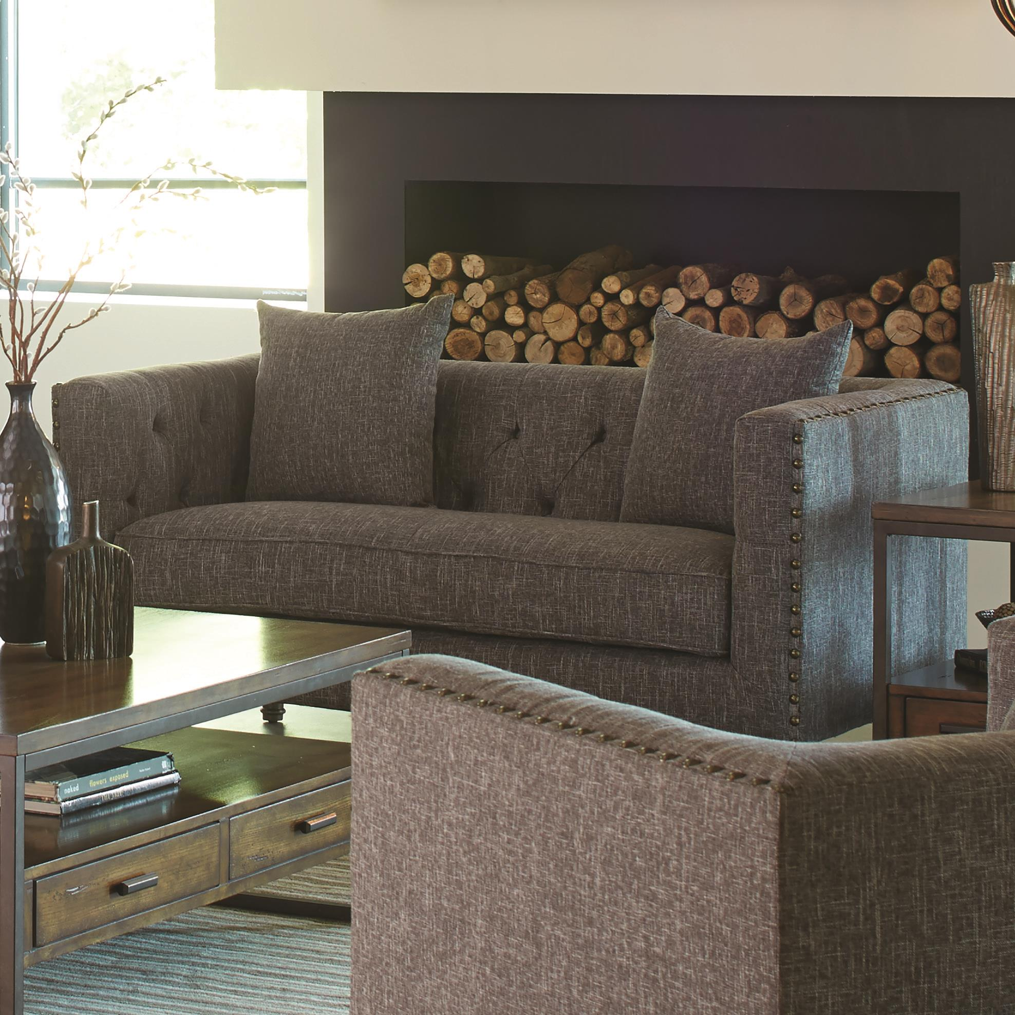 Ellery Loveseat With Traditional Industrial Style
