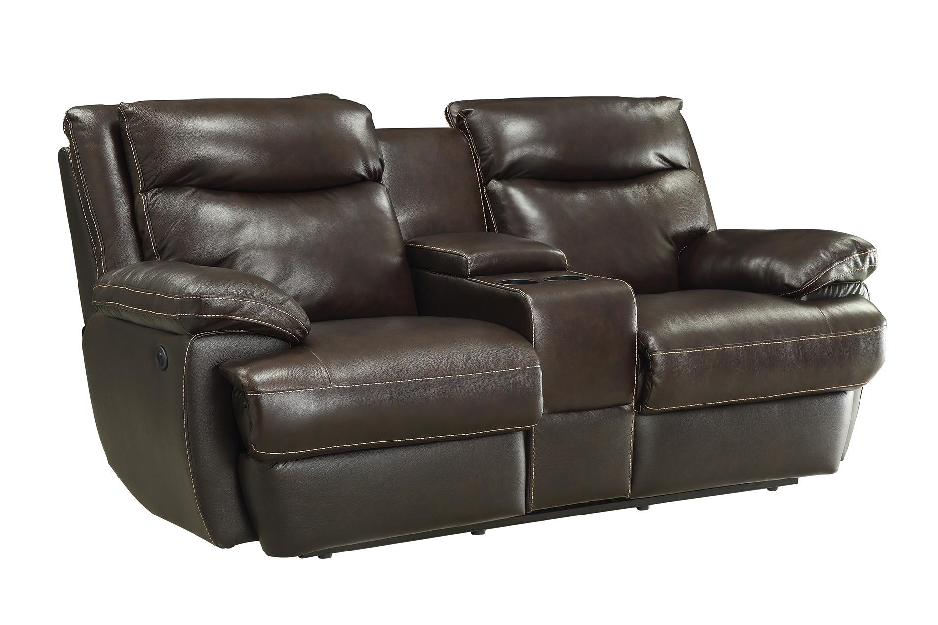 Macpherson casual power reclining loveseat with storage Power reclining sofas and loveseats