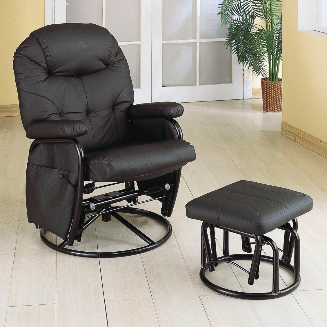 Recliners With Ottomans Deluxe Swivel Glider With Matching
